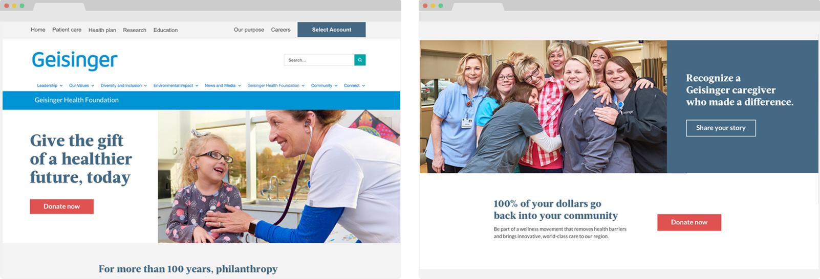 Geisinger foundation website images
