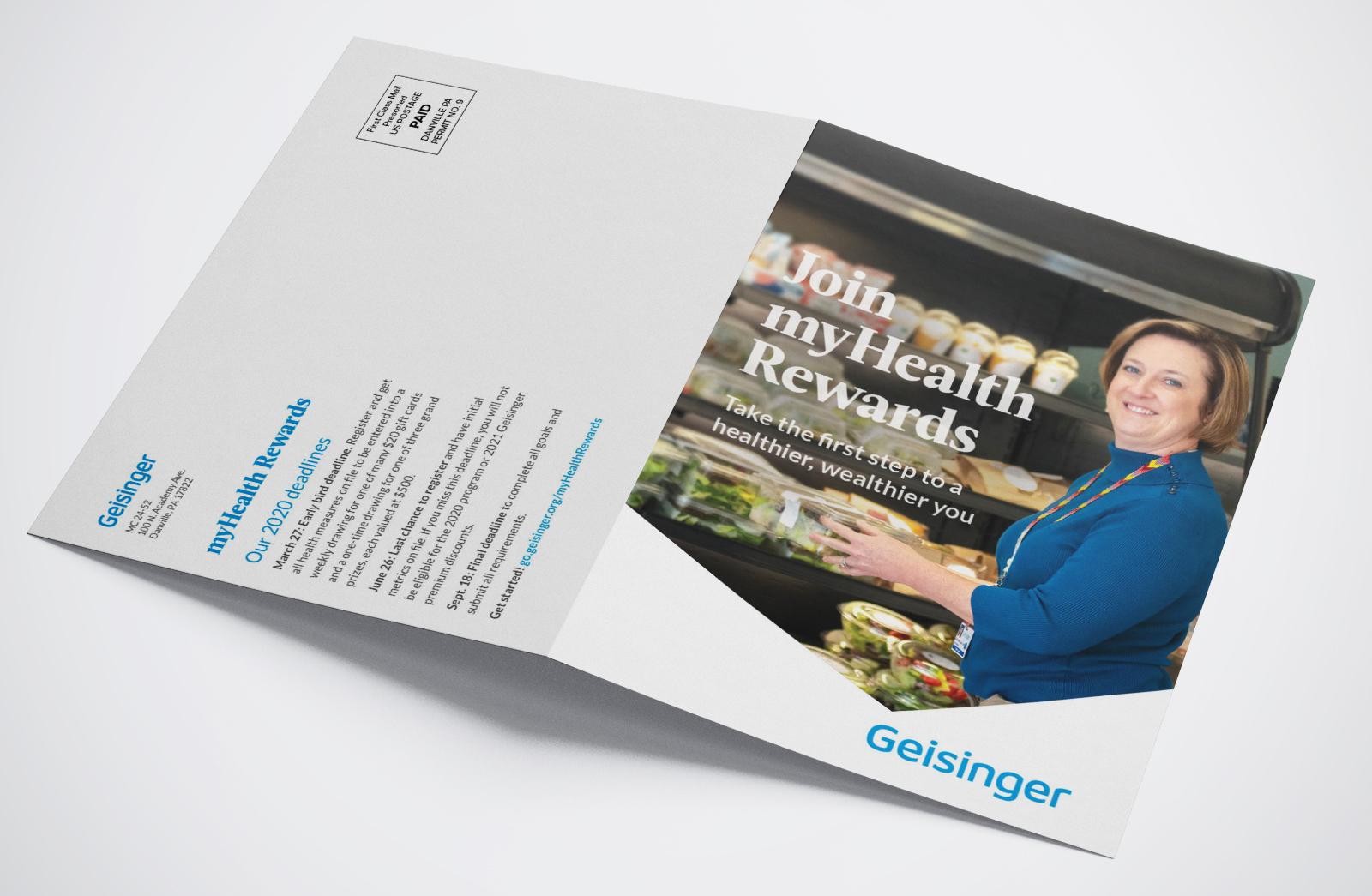 Geisinger MyHealth Rewards 2020 home mailer