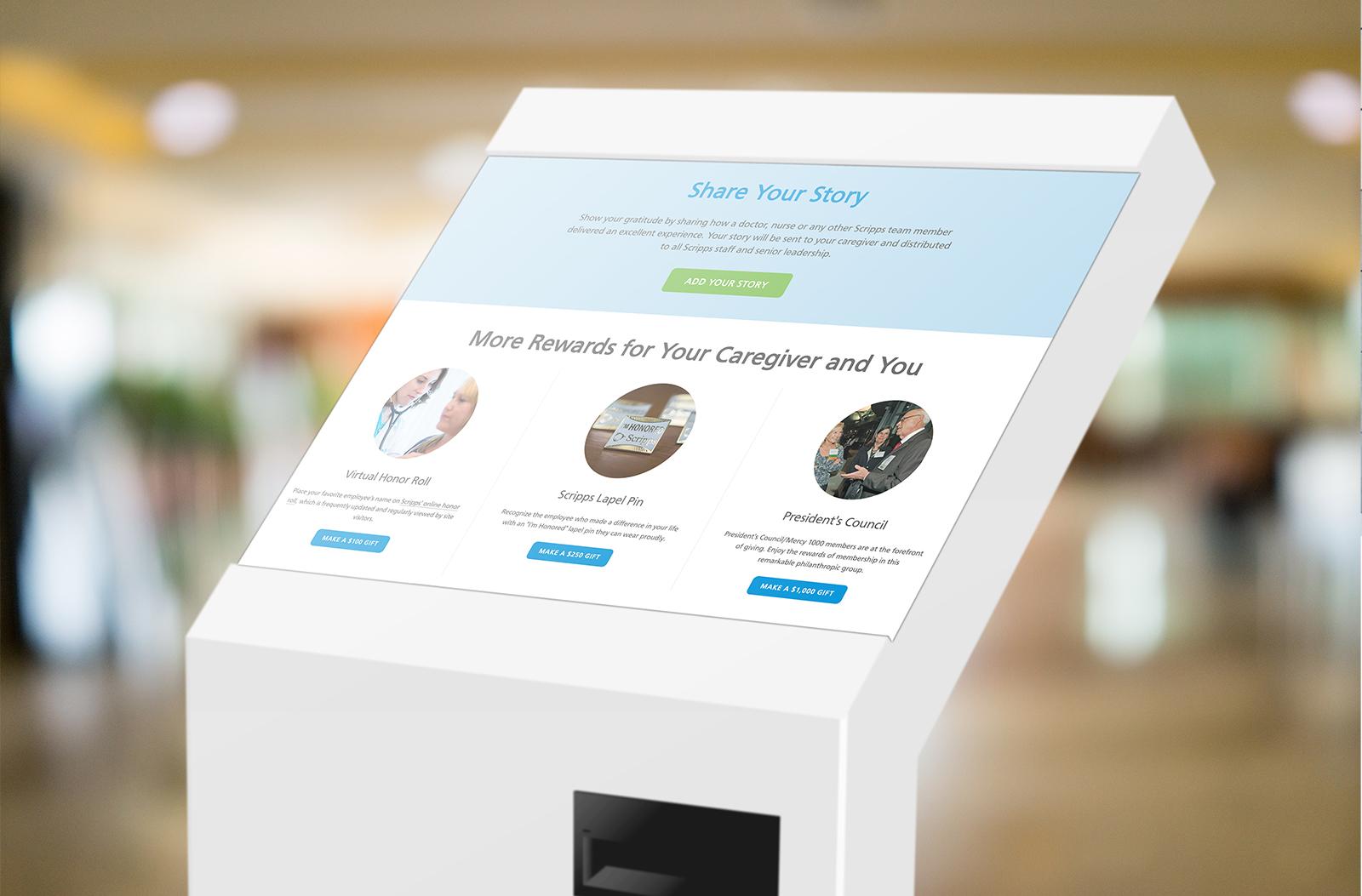 Scripps Honor Your Caregiver kiosk